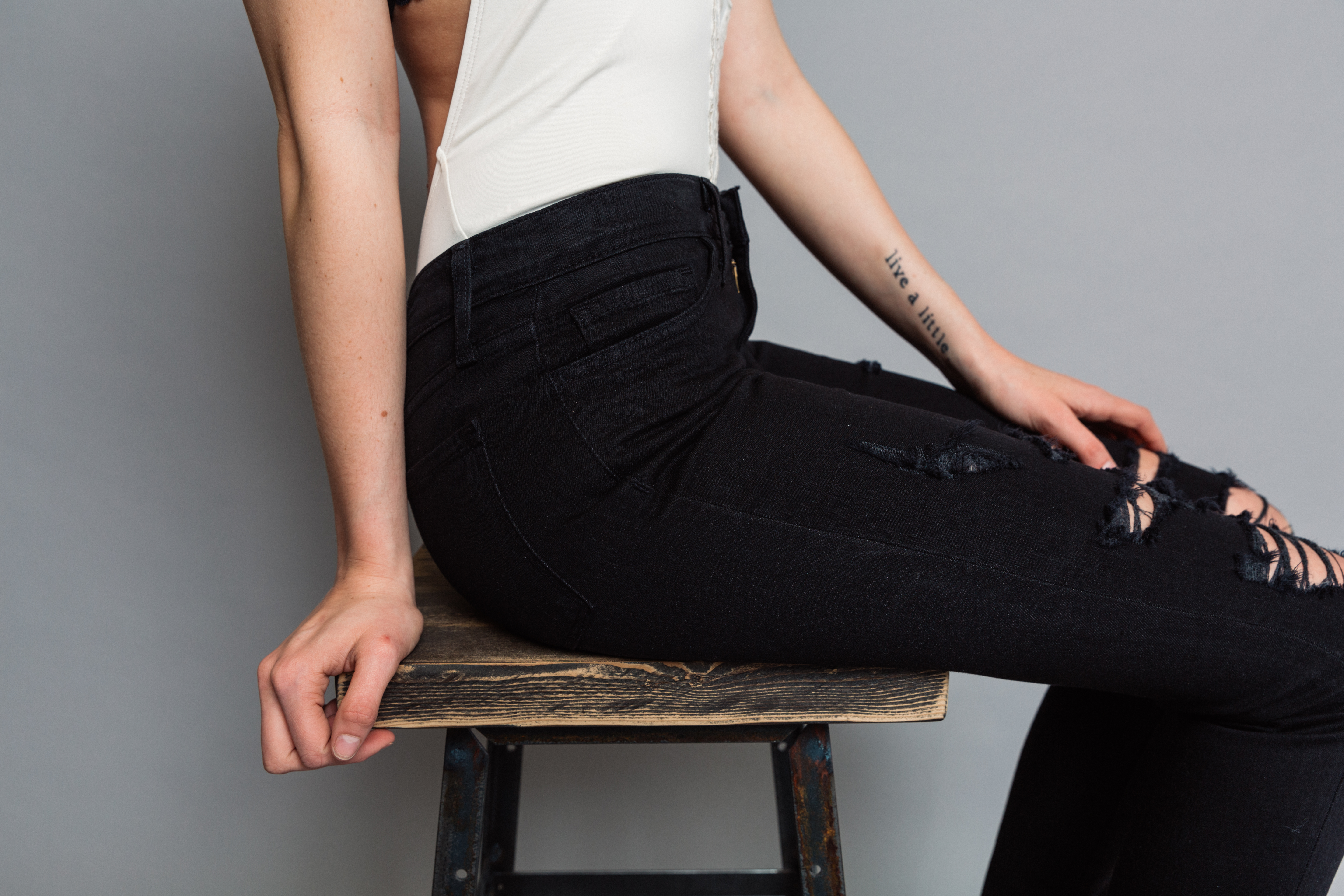 Mid-rise Flying Monkey skinny jeans