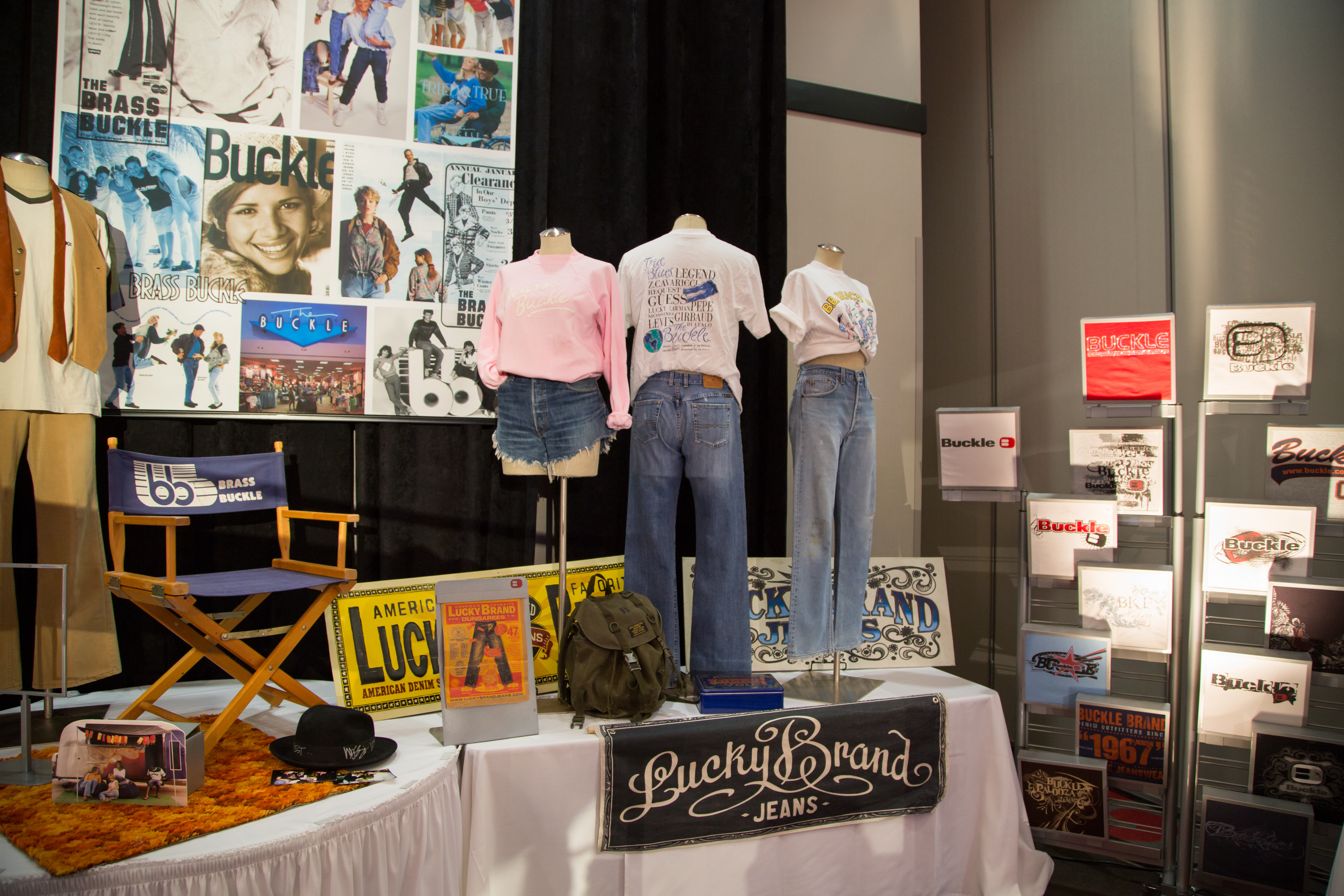 Vintage clothing in Buckle's 50th anniversary museum.