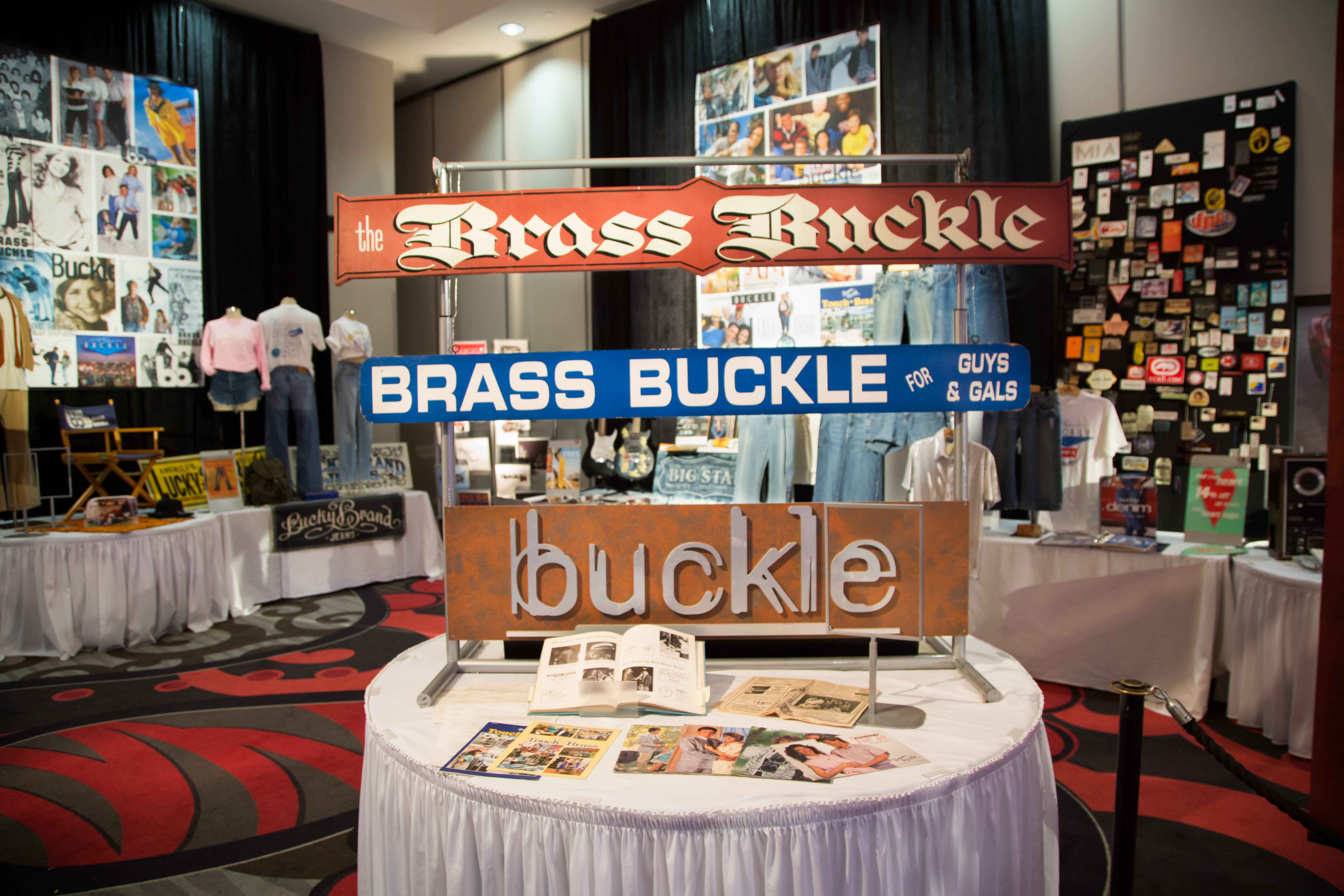 Buckle's 50th Anniversary Museum | Buckle name's and logos over the years.