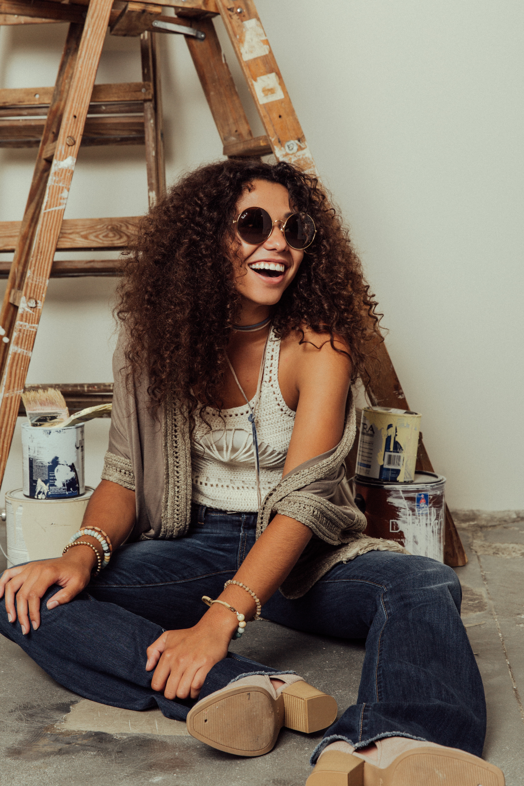 70s Styles | Flares and Crochet Top