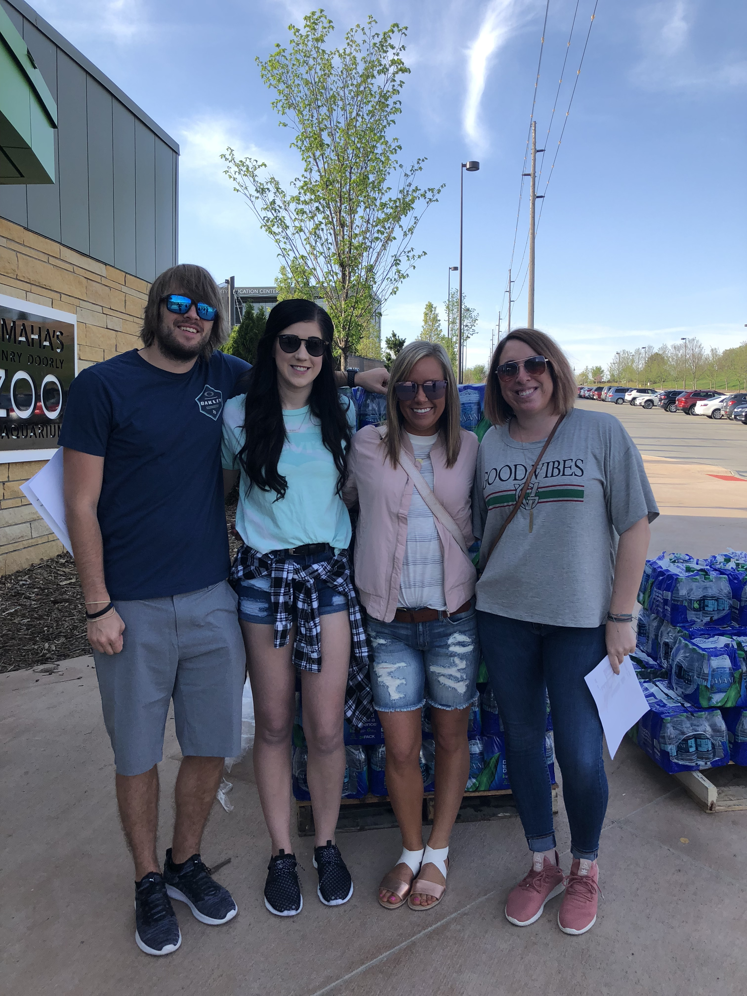 Four Buckle Store Managers at TeamMates event at Henry Doorly Zoo in Omaha, Nebraska on May 8, 2018.