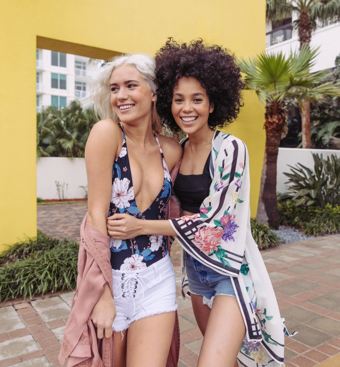 We love swim styled as a piece of the outfit. Ask your one-piece pull double duty as a bodysuit.