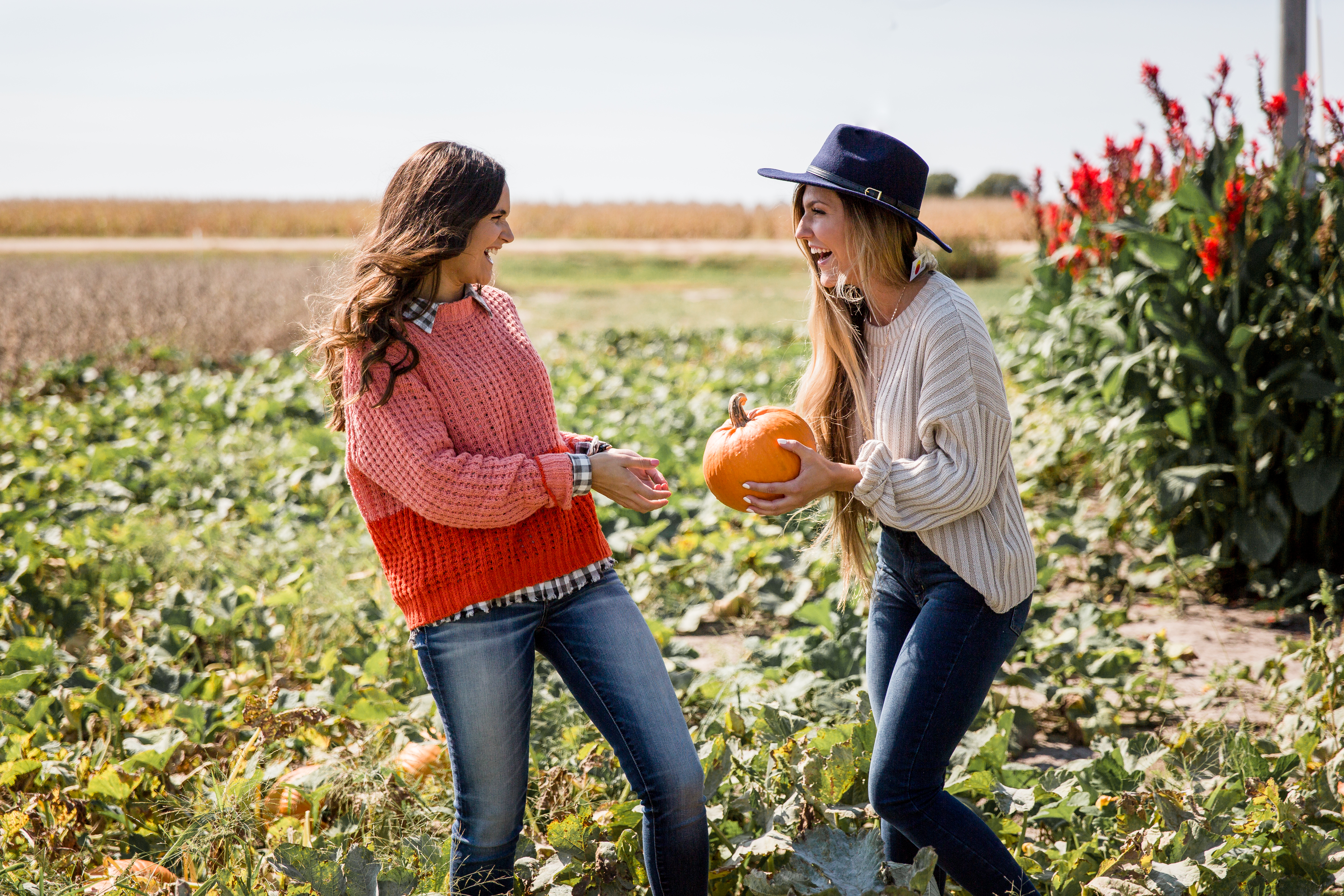 A trip to the pumpkin patch that promises good times with good outfits.
