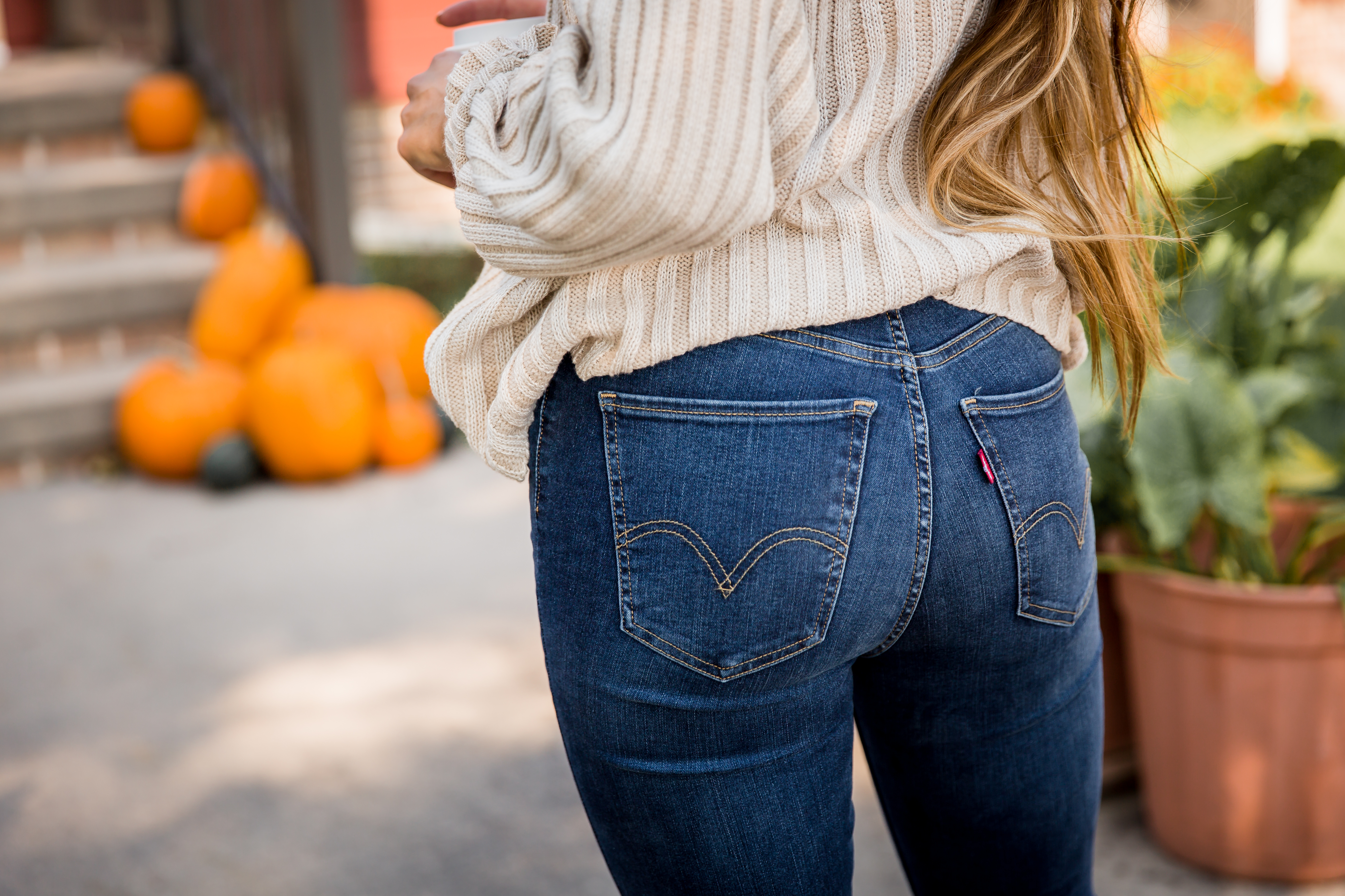 Fall calls for curve-hugging jeans that reach for the sky.