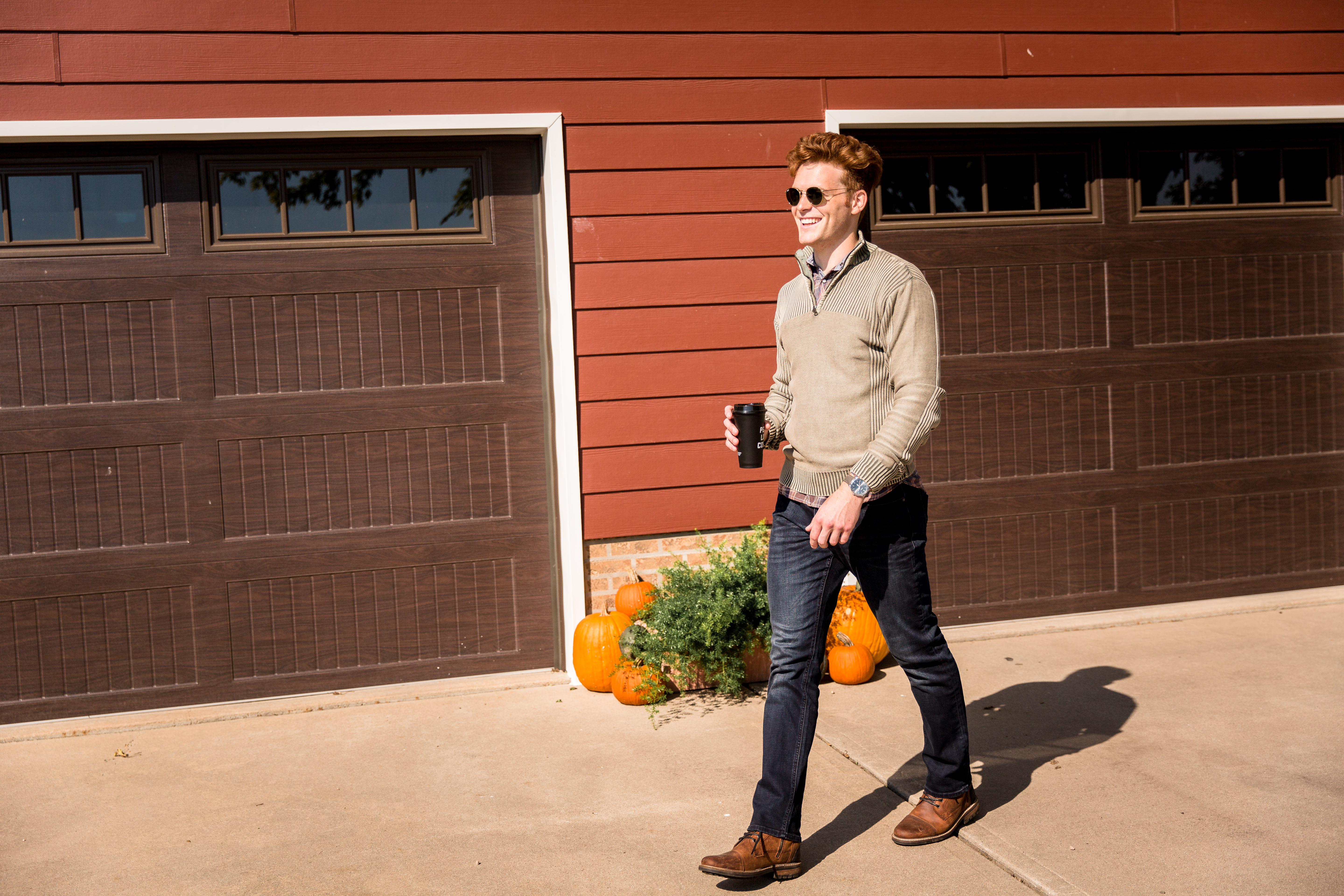 Fall is for the fellas, too. Sweaters and refined jeans are always a good call.