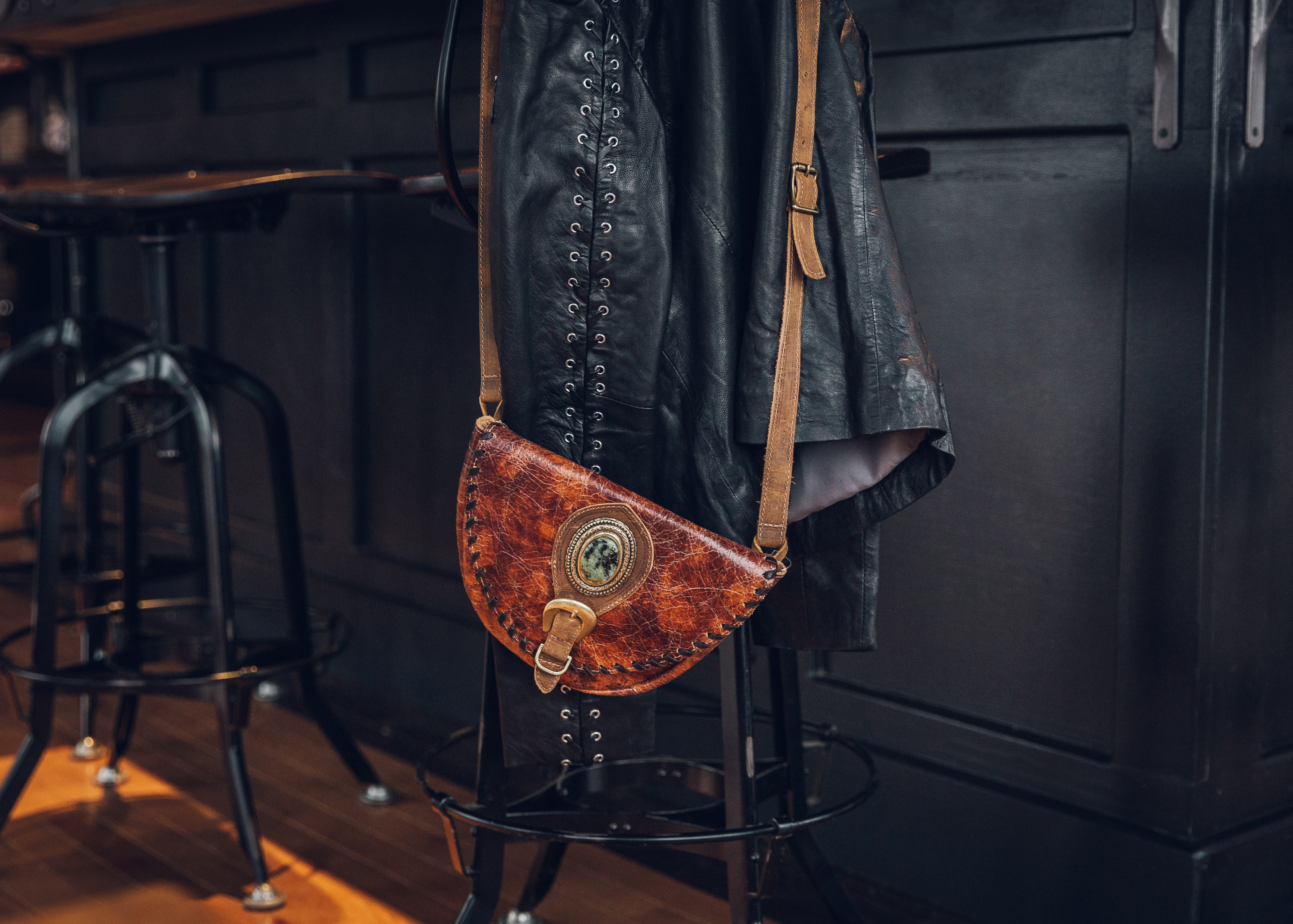 Real leather jackets and bags from Buckle