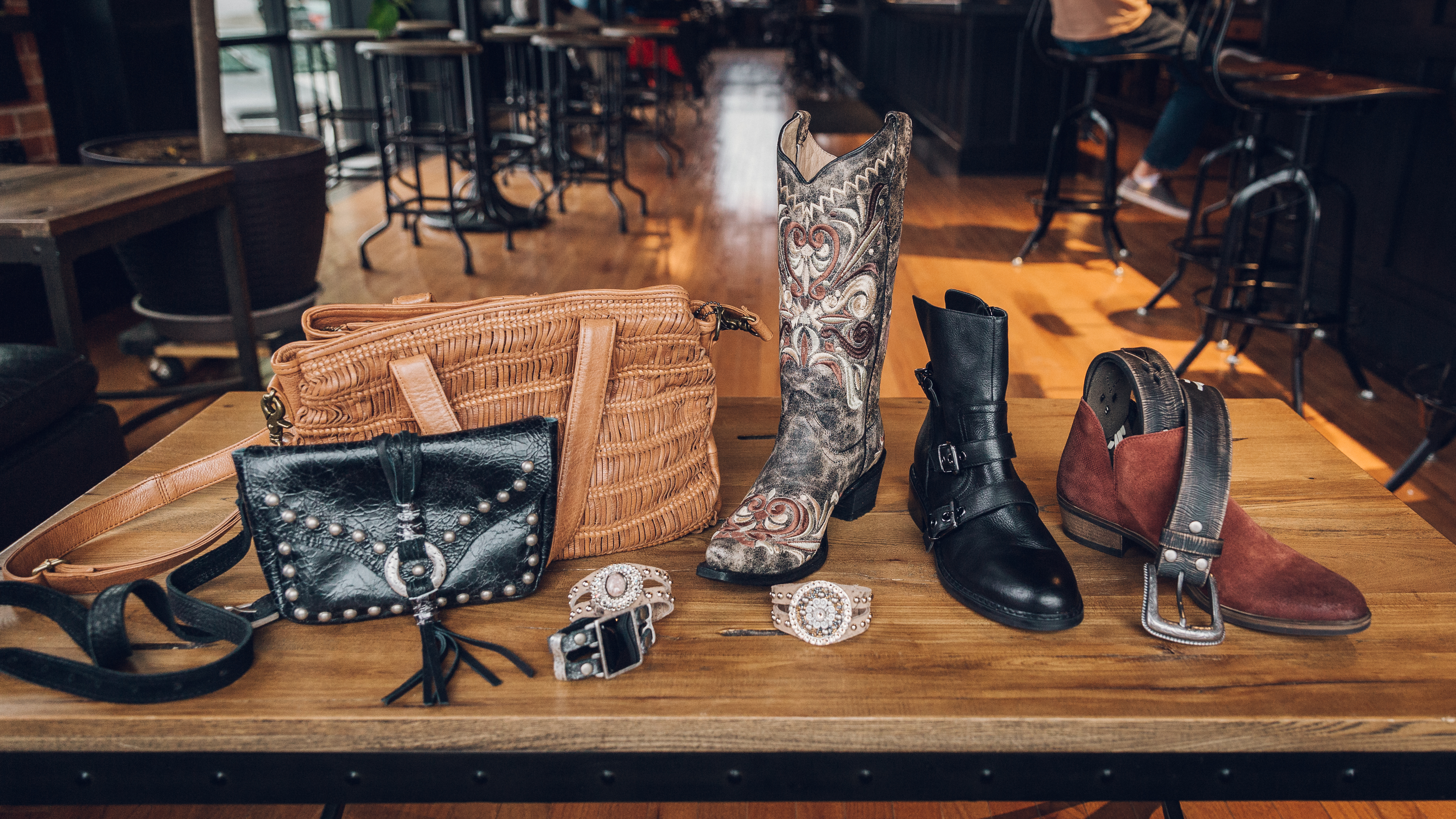 Real leather products at Buckle