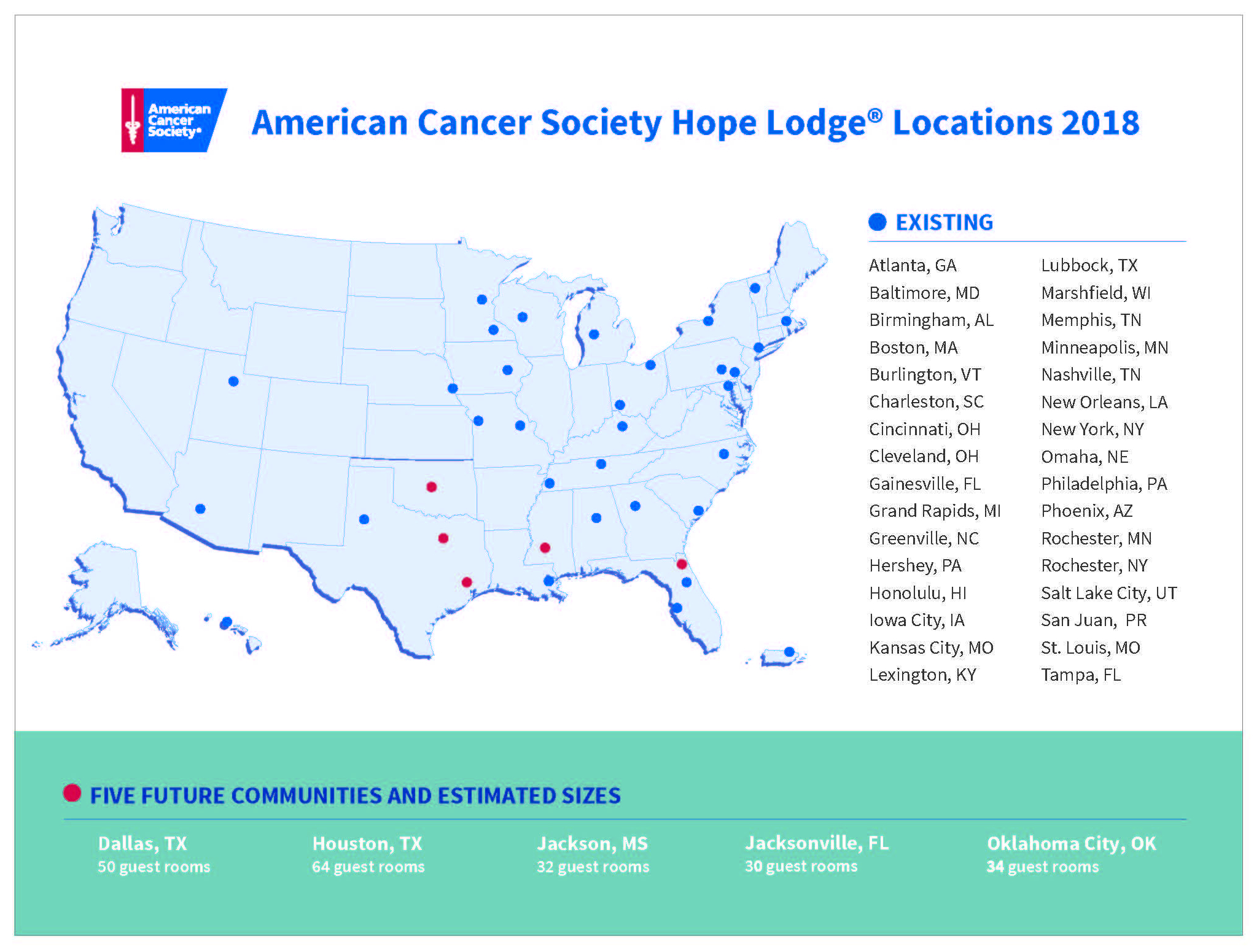 American Cancer Society Hope Lodge Locations