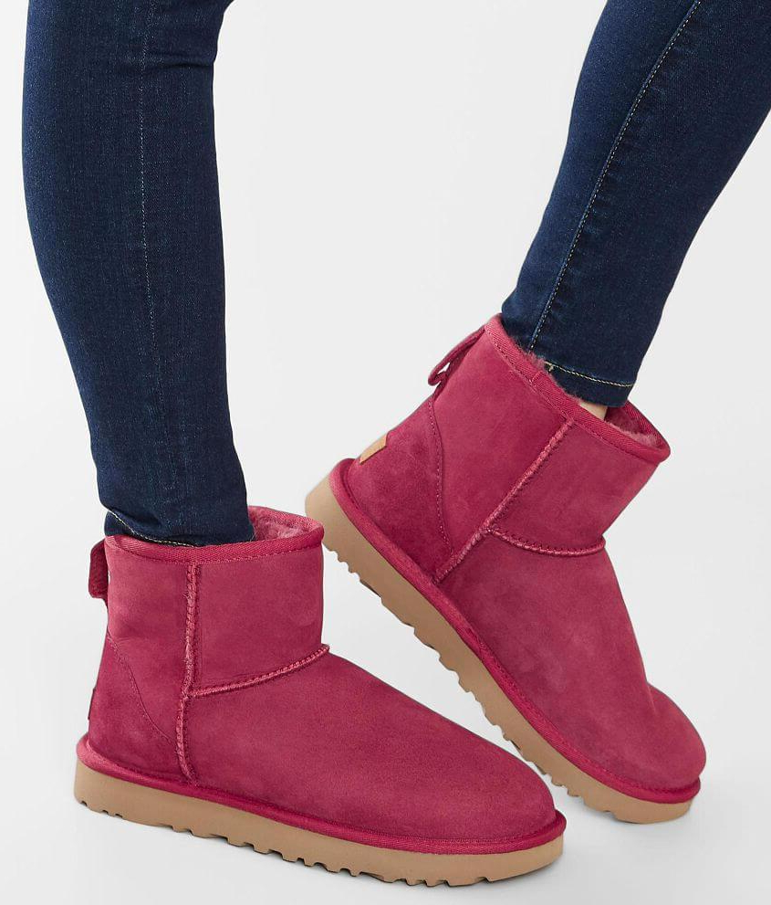 Women's Ugg Pink Classic Suede Mini Boot