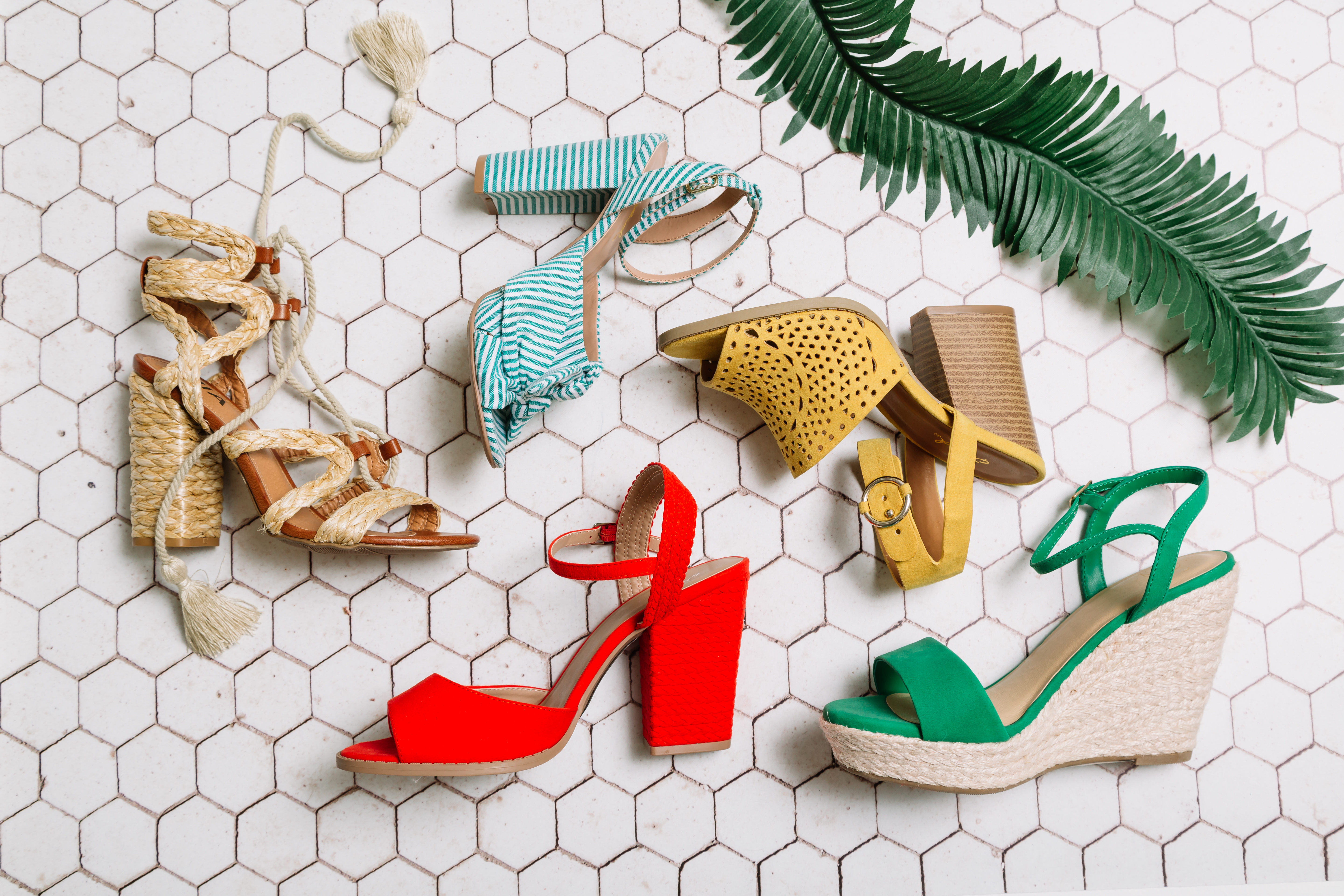Colored heels for spring at Buckle