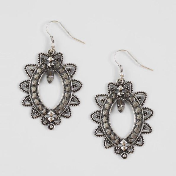 Women's BKE Antique Silver Statement Earrings
