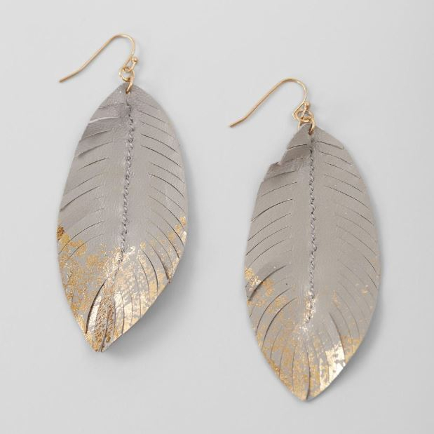 Women's BKE Feather Statement Earrings