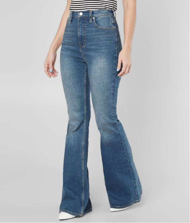 Women's Free People CRVY Robin Flare Stretch Jean