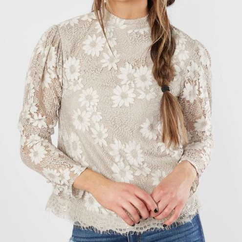 Women's Gimmicks Floral Lace Top