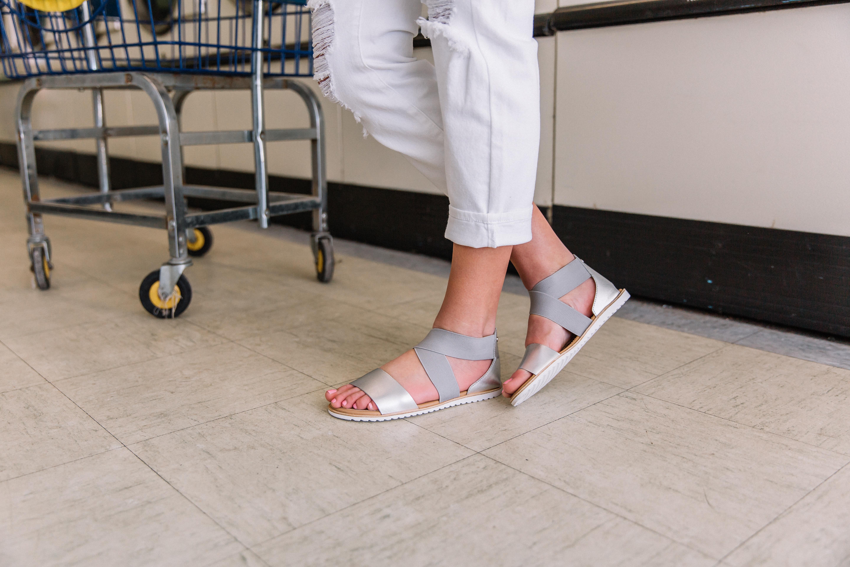 Ella Metallic Leather Sandal