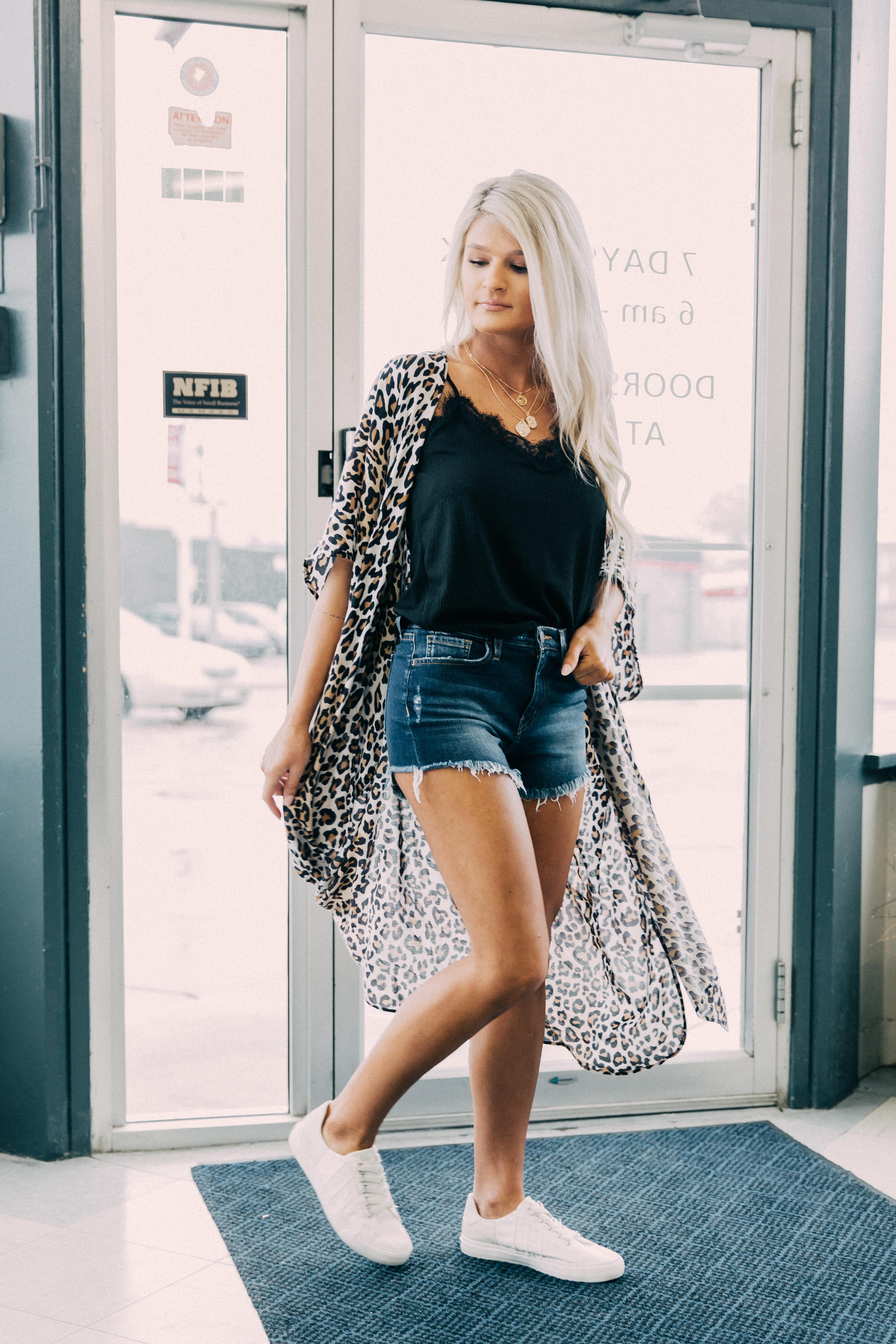 Women's Angie Cheetah Print Duster Kimono