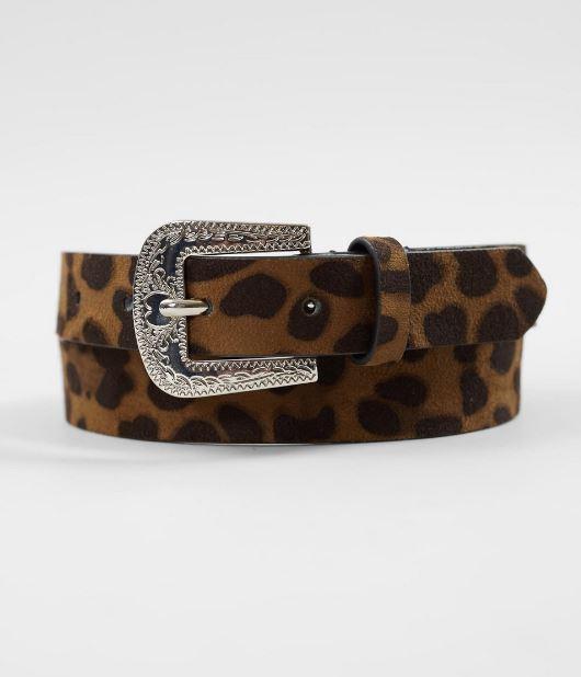 Women's Leopard Print Western Belt