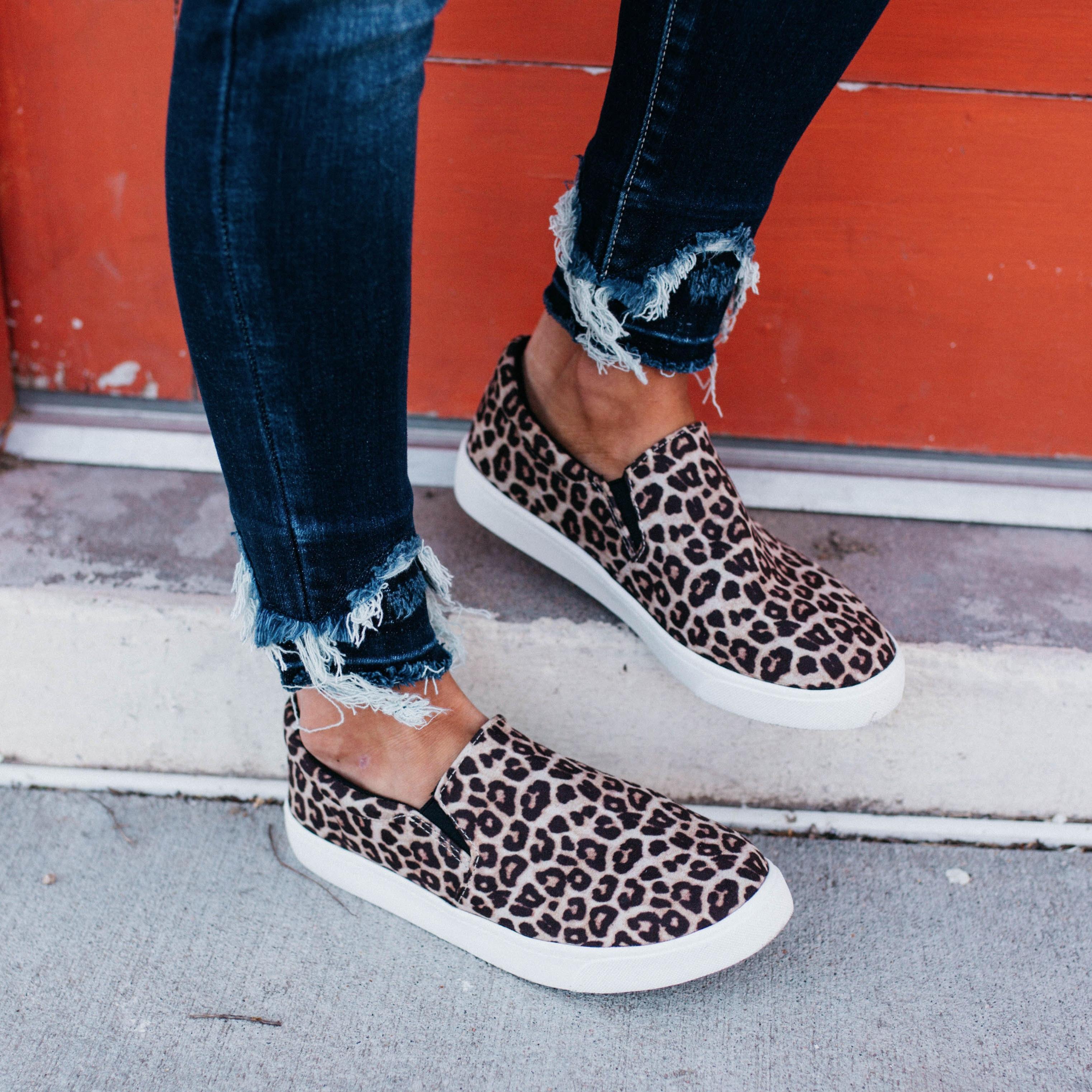Women's Soda Brand Cheetah Slip-on Sneaker Shoe