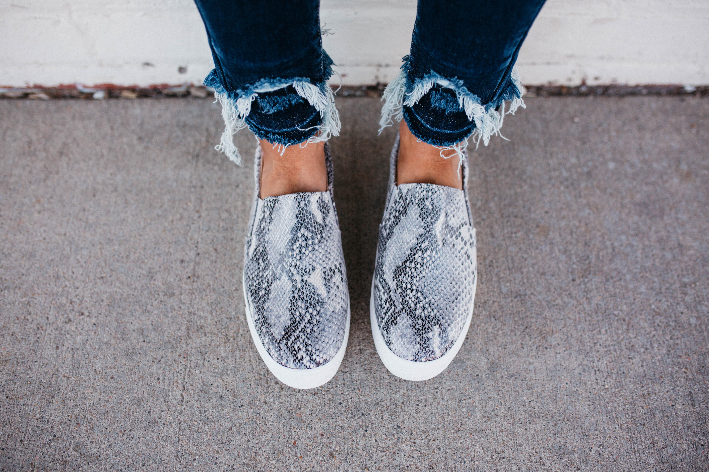 Women's Soda Brand Python Snakeskin Slip-on Sneaker Shoe