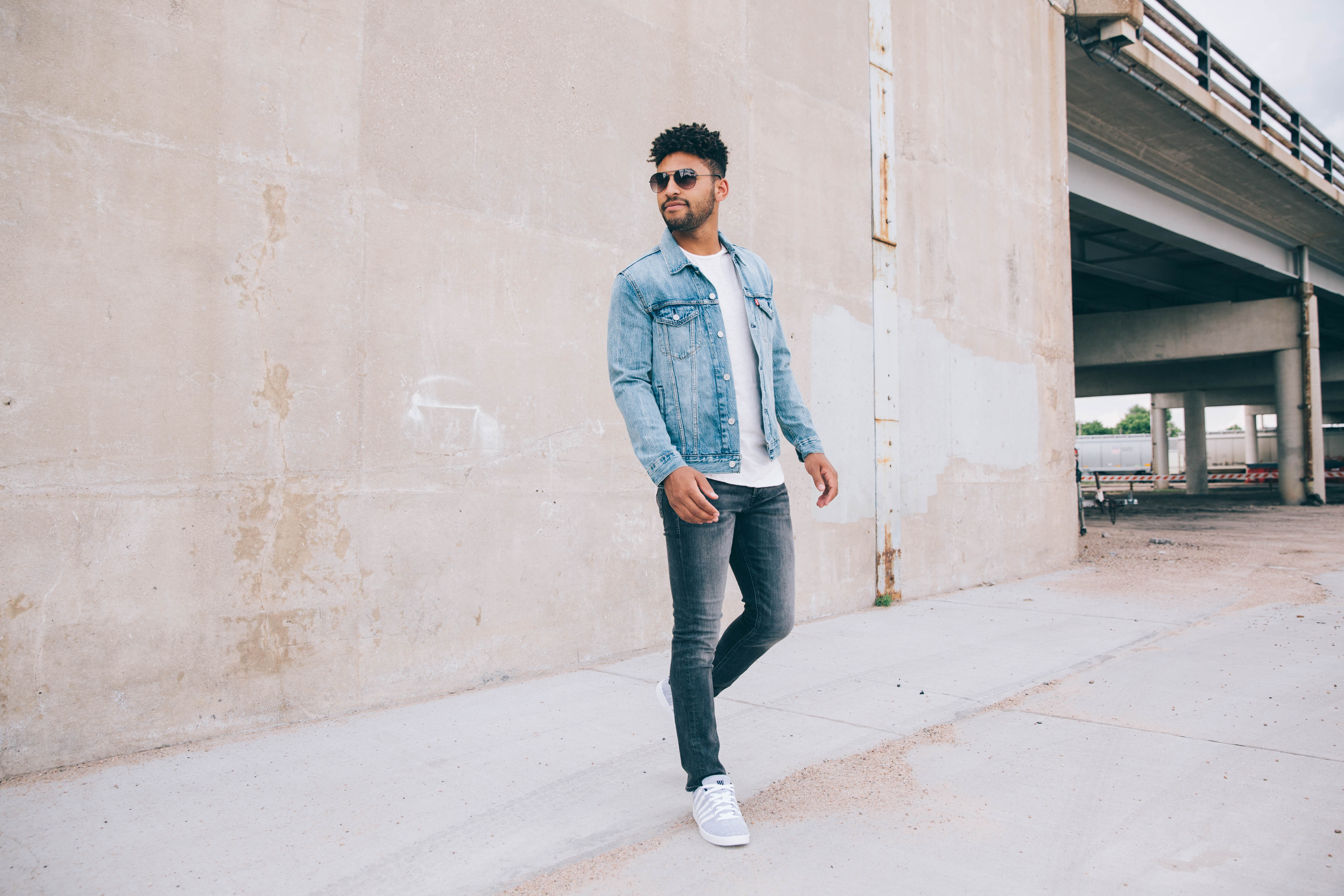 a clean, dark wash that pairs well with denim