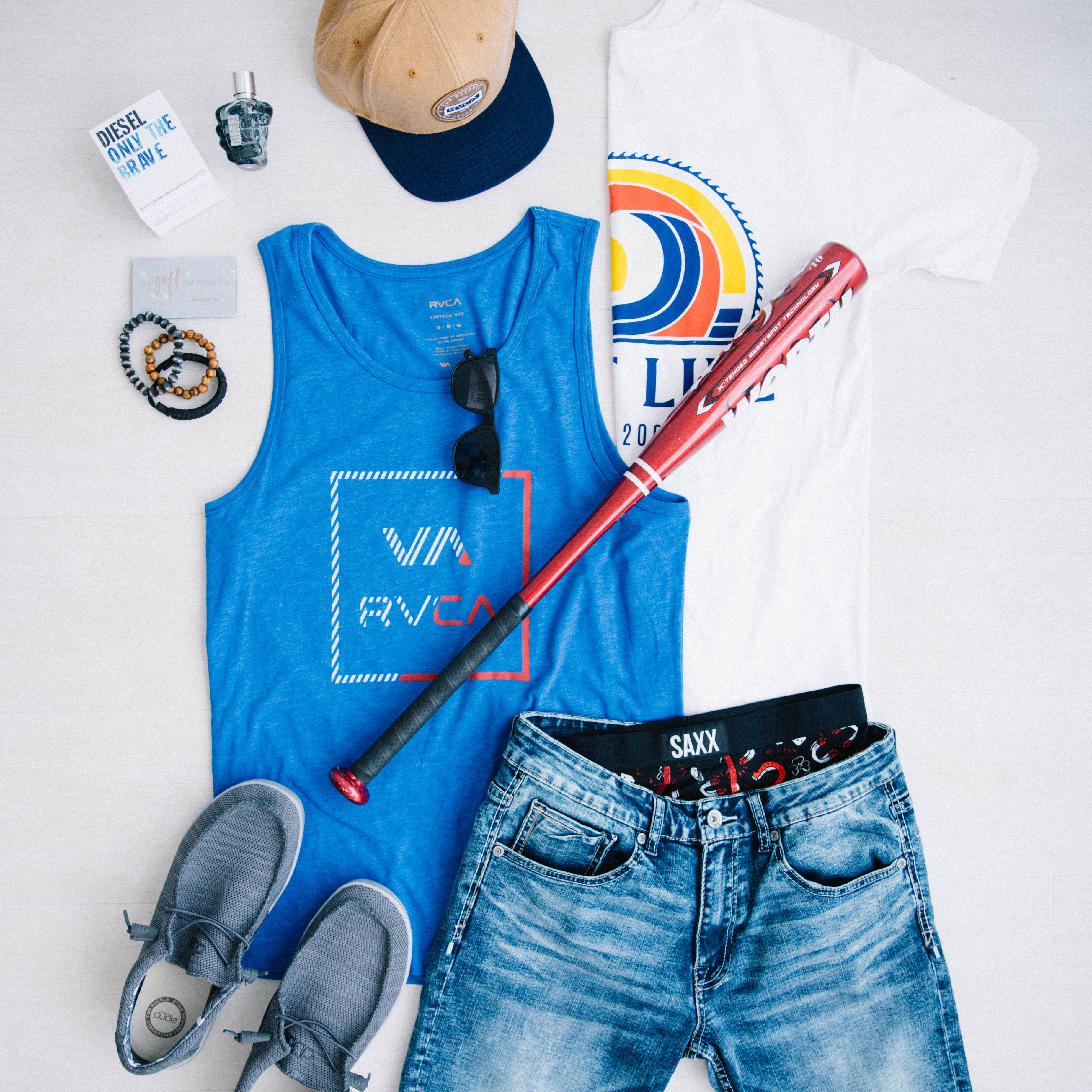 Father's Day Gifts - Hey Dude Shoes, Comfort Stretch Shorts, Cologne, Graphic T-shirts and Tanks
