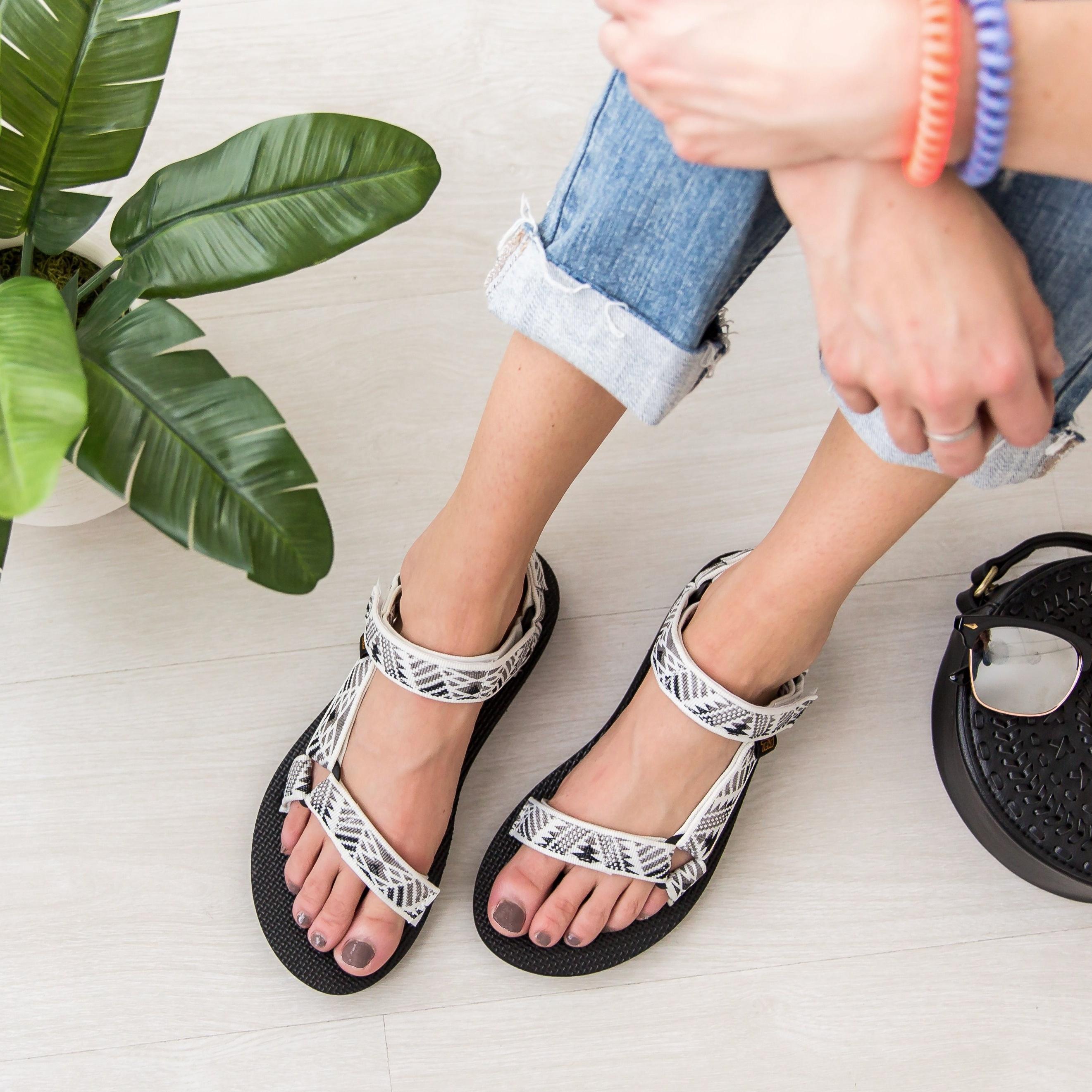 Women's Boomerange White Grey Teva Original Universal Athletic Sandal