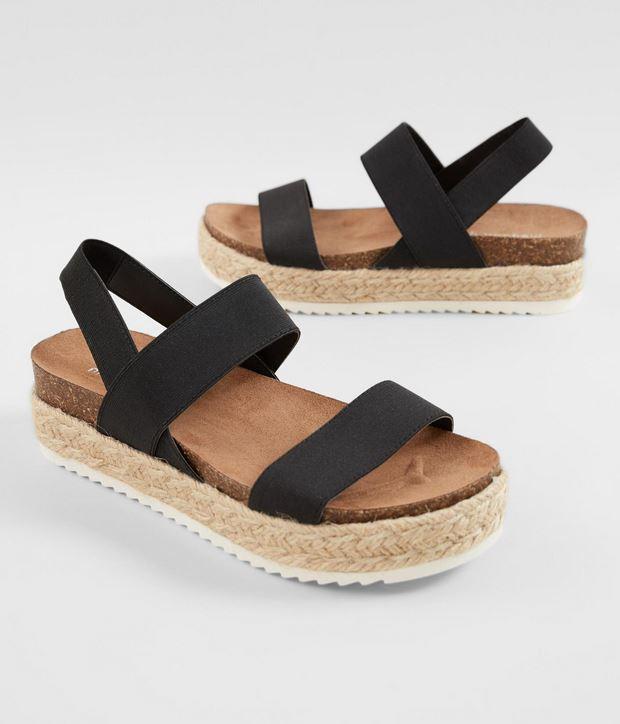 Women's Madden Girl Black Cybell Flatform Sandal