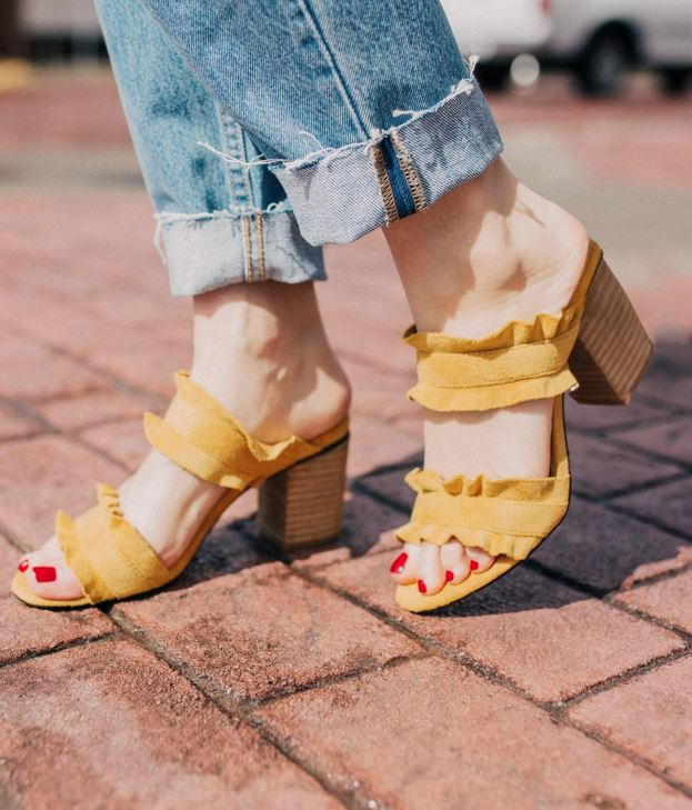 Women's Mi.iM Yellow Rachel Block Heels