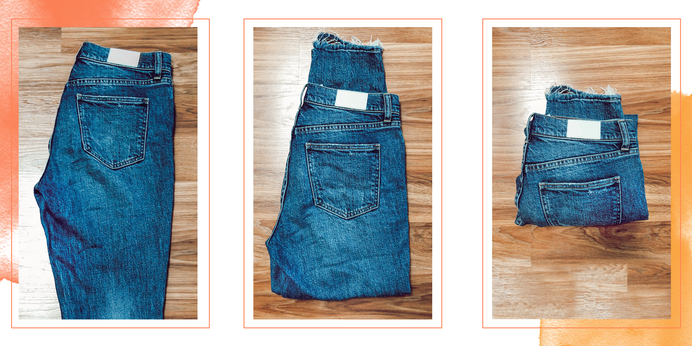 really let that denim collection shine by showcasing pocket and hem details.