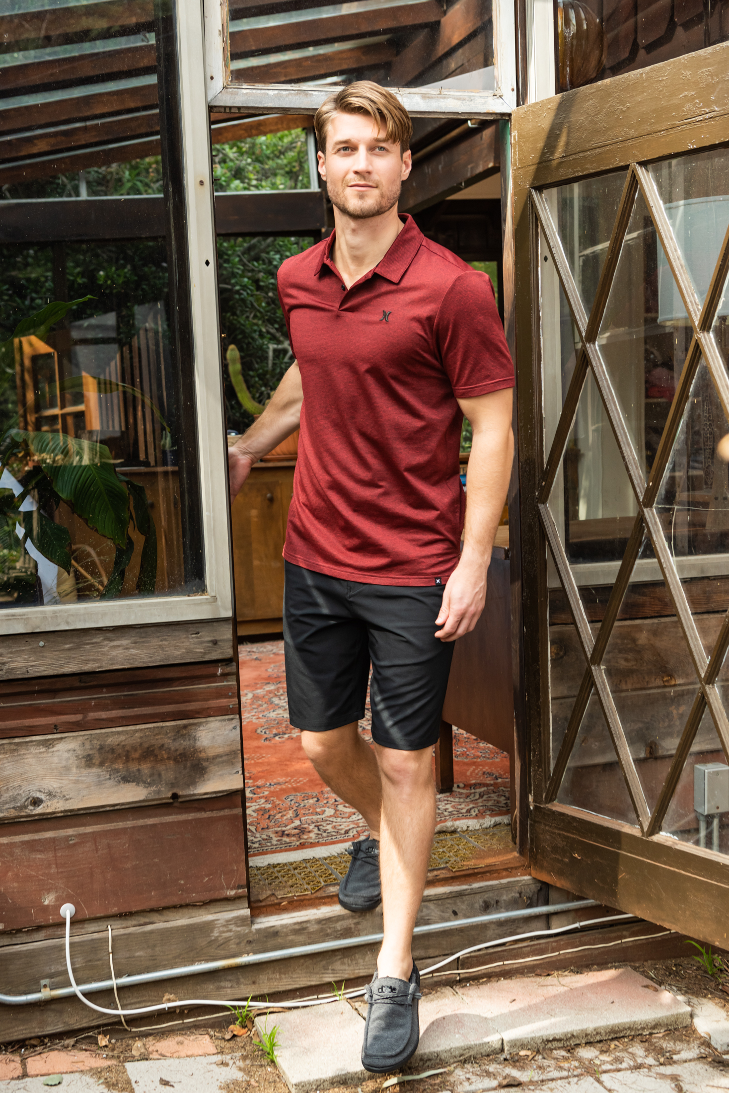 topping our summer essentials for him? Hybrid shorts
