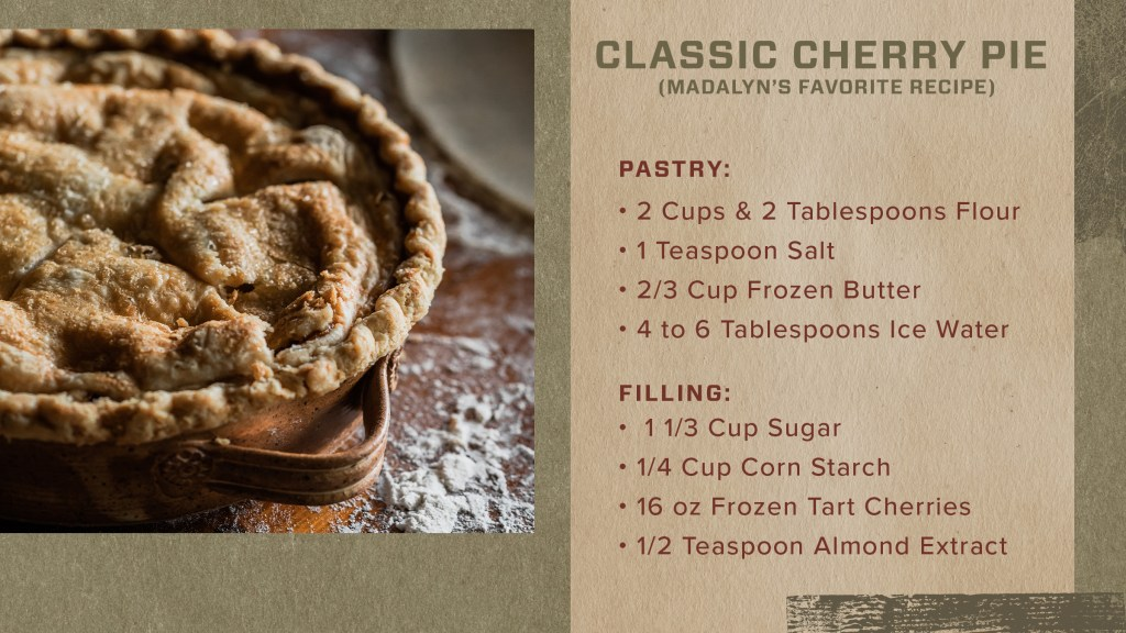 follow this recipe for a perfect cherry pie