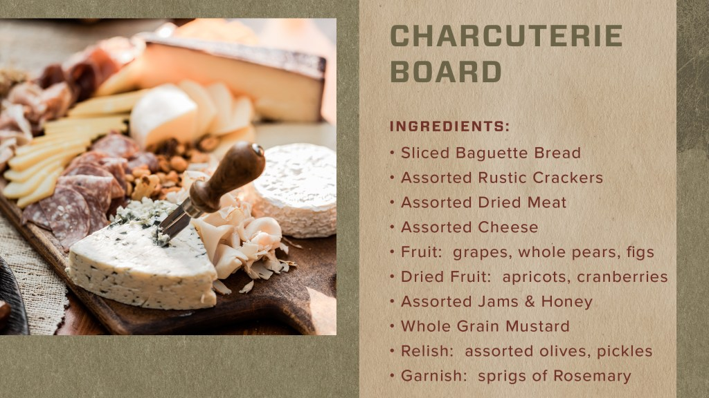 holiday charcuterie board ingredients